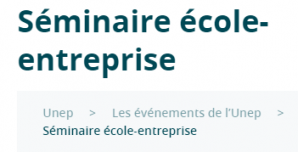 image CaptureSeminairesECOLEEntreprise.png (9.6kB) Lien vers: https://www.lesentreprisesdupaysage.fr/les-evenements-de-lunep/seminaire-ecole-entreprise/